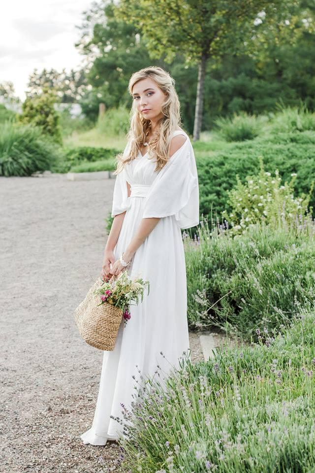 Белое платье прованс