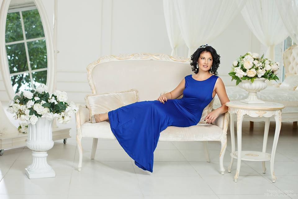 прокат синего платья
