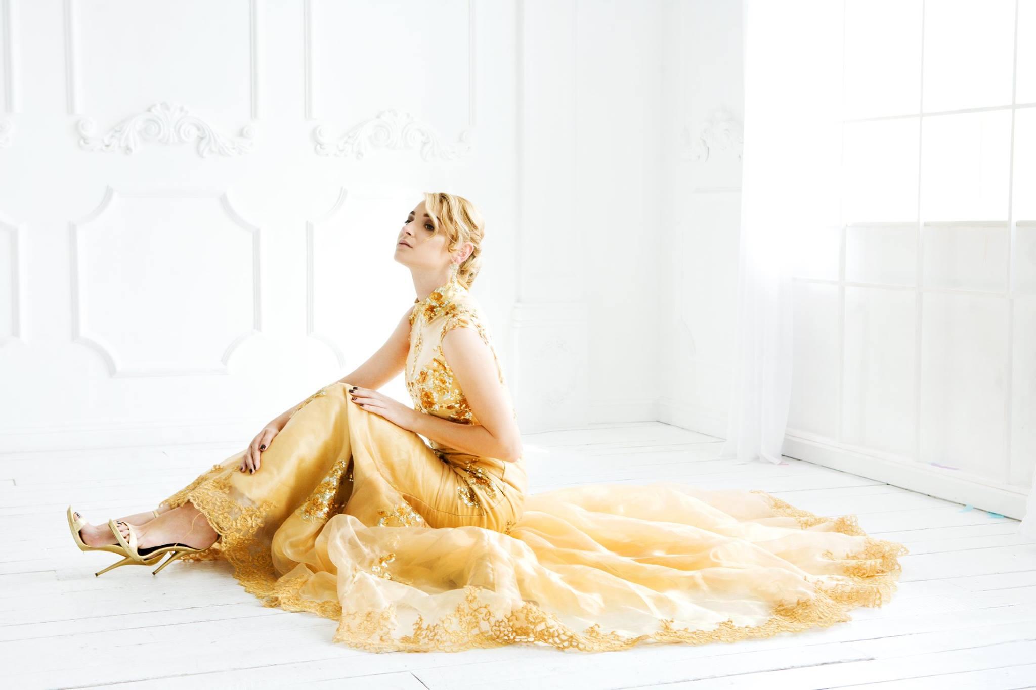 Золотое платье рыбка