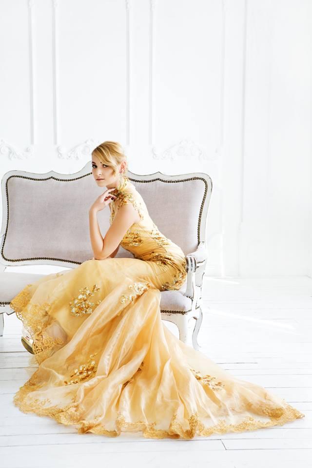 платье рыбка золотое