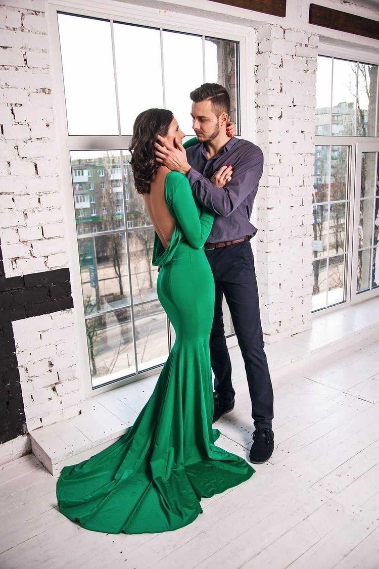 Платье с открытой спиной прокат аренда киев