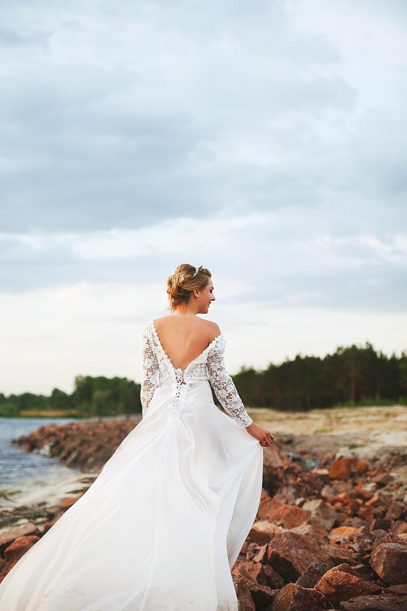 белое шифоновое платье недорого киев