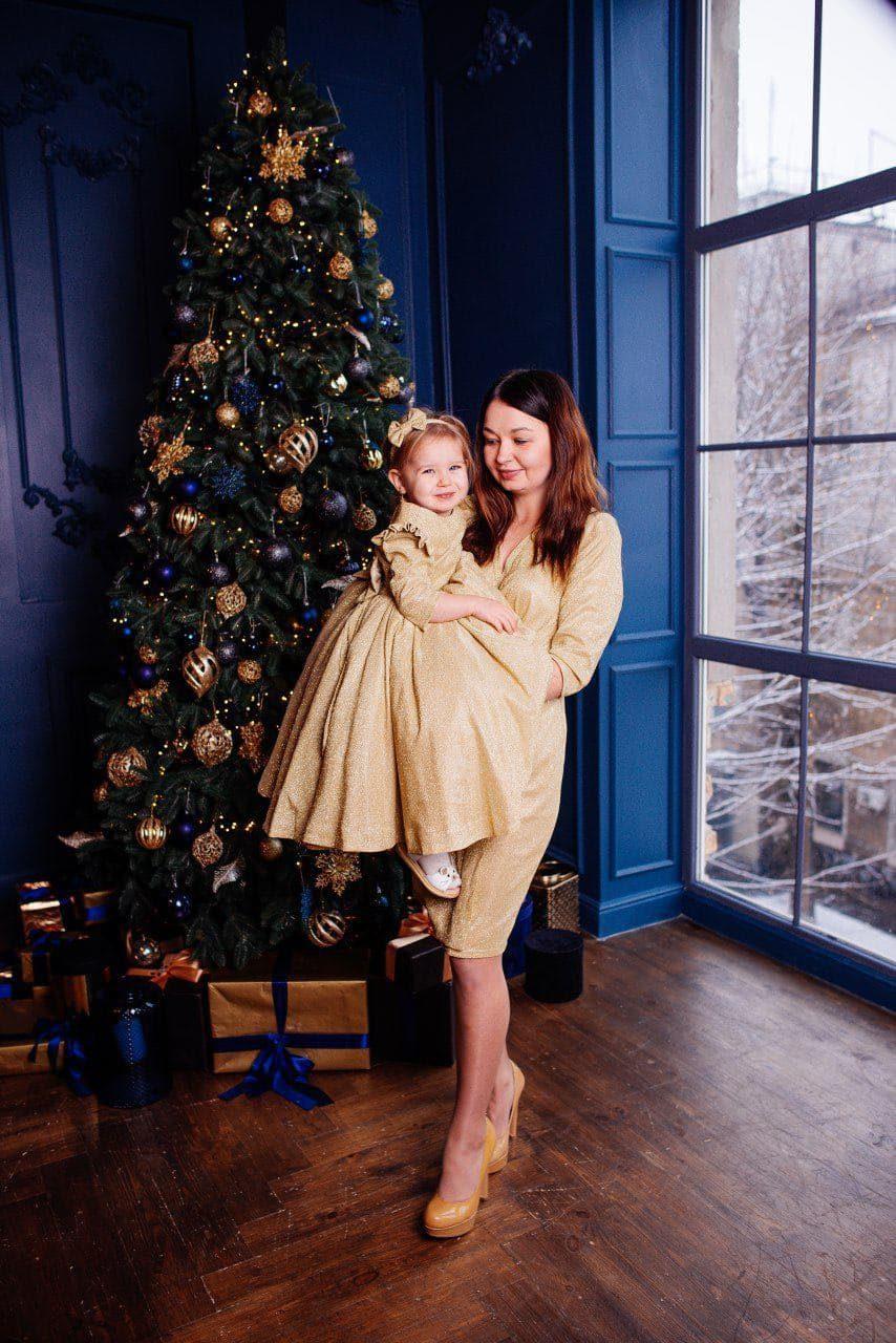 Золотое платье для мамы и дочки