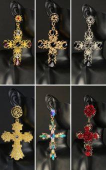 серьги кресты