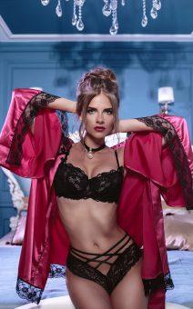розовый халат в стиле Victoria's Secret