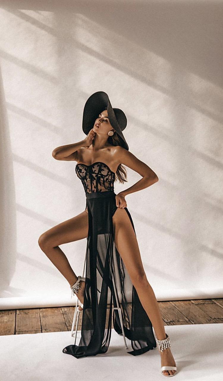 черное секси платье прокат