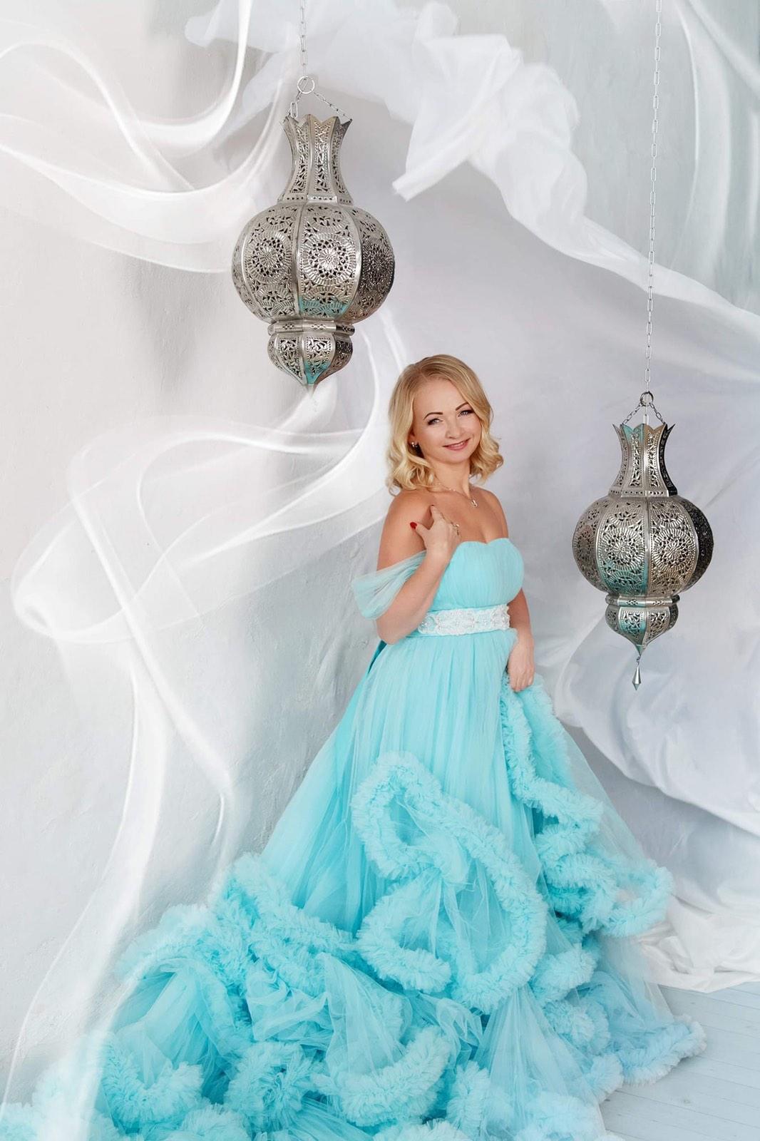 голубое облако платье