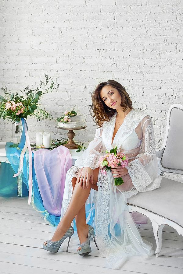 белый халат для беременной киев