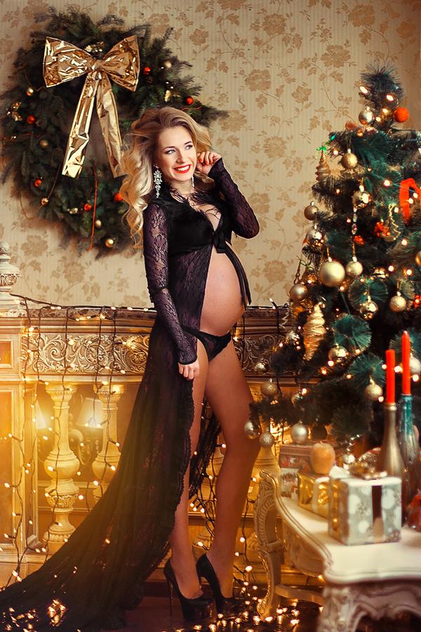 Черный халатик для беременных прокат киев