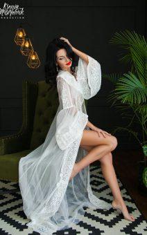 Будуарные платья, Кружевные халаты, Пеньюары