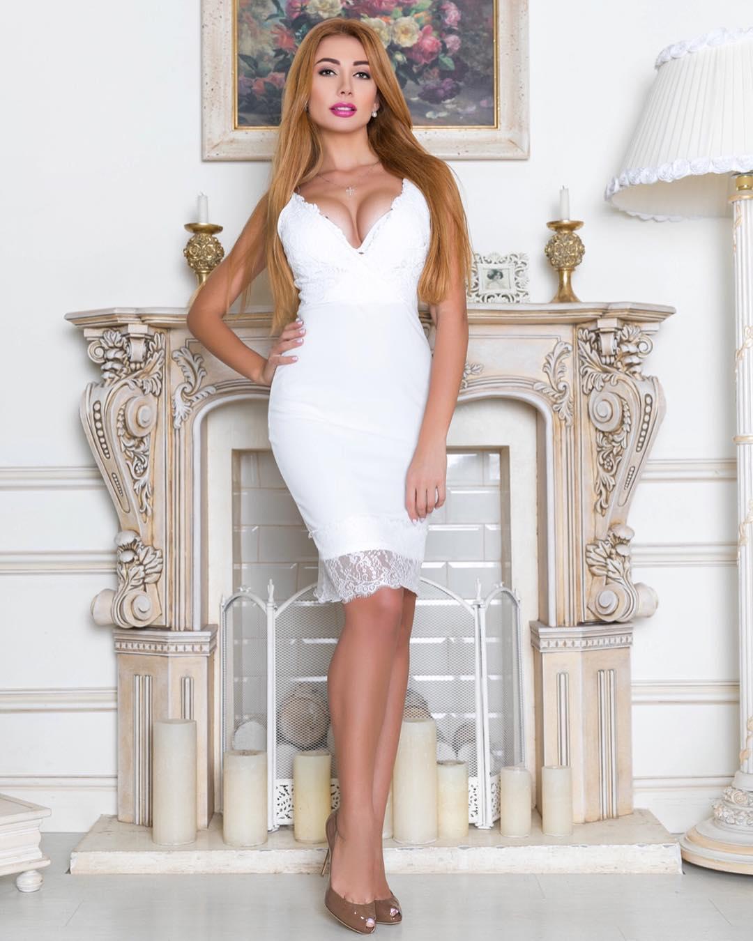 Белое деловое короткое платье Киев