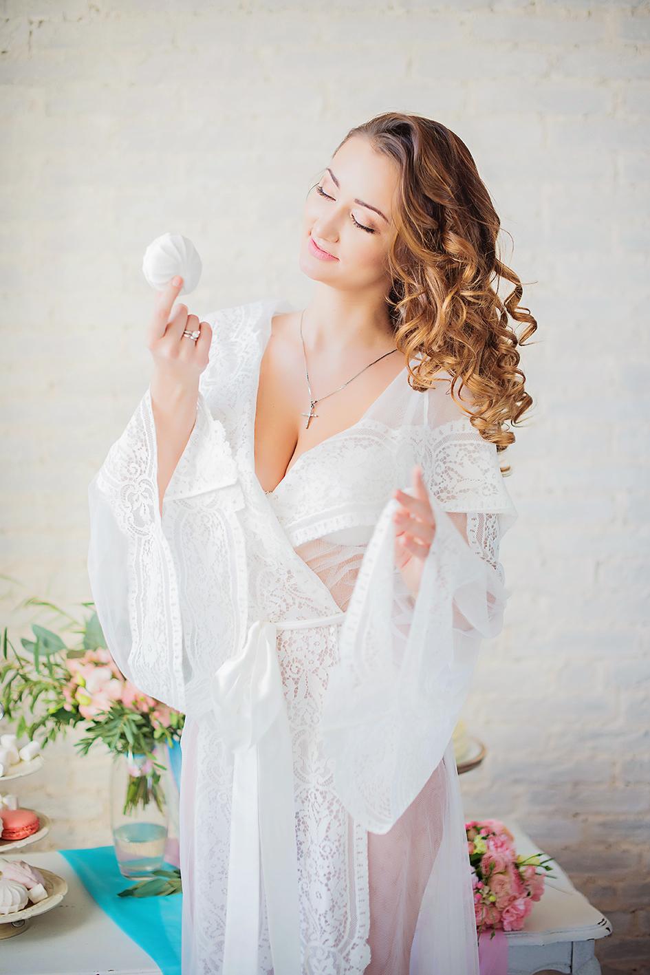 халат для утра невесты прокат киев