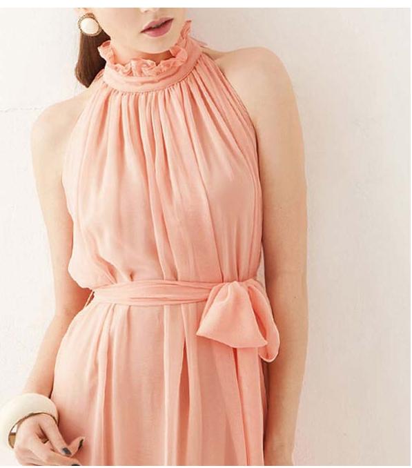 Персиковое платье для беременных