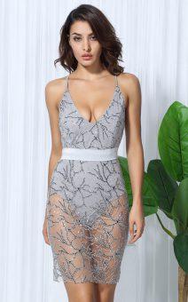 Платье боди прозрачное