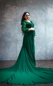 Платье со шлейфом для беременных