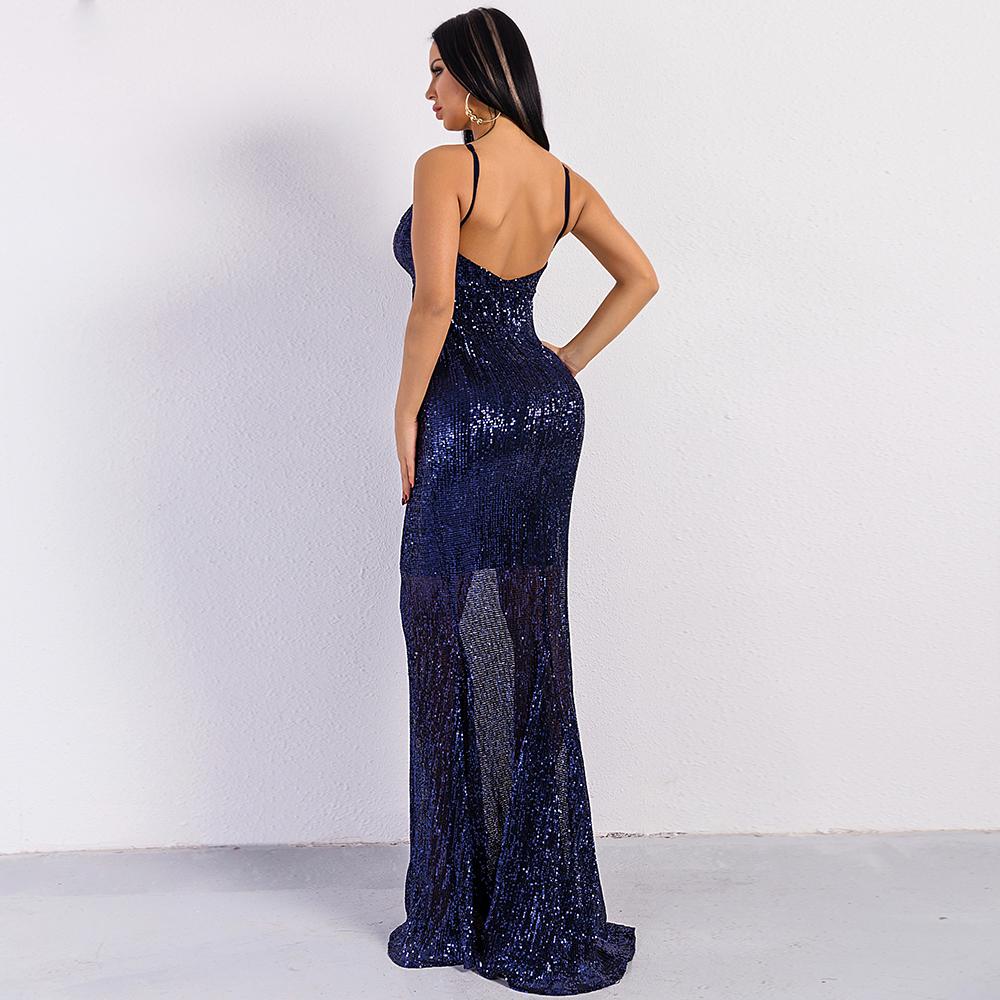 Синее платье рыбка в пайетках киев
