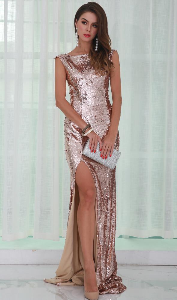 платье пайетки в пол киев
