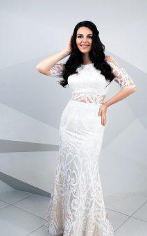 свадебное платье с рукавами по фигуре большого размера покат киев
