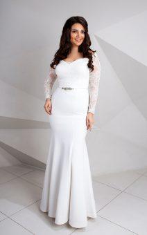 свадебное платье с рукавом большого размера прокат киев