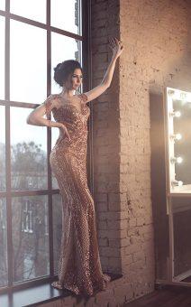 Золотое платье в пол прокат киев