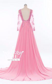 Прокат платья с длинным шлейфом для беременных