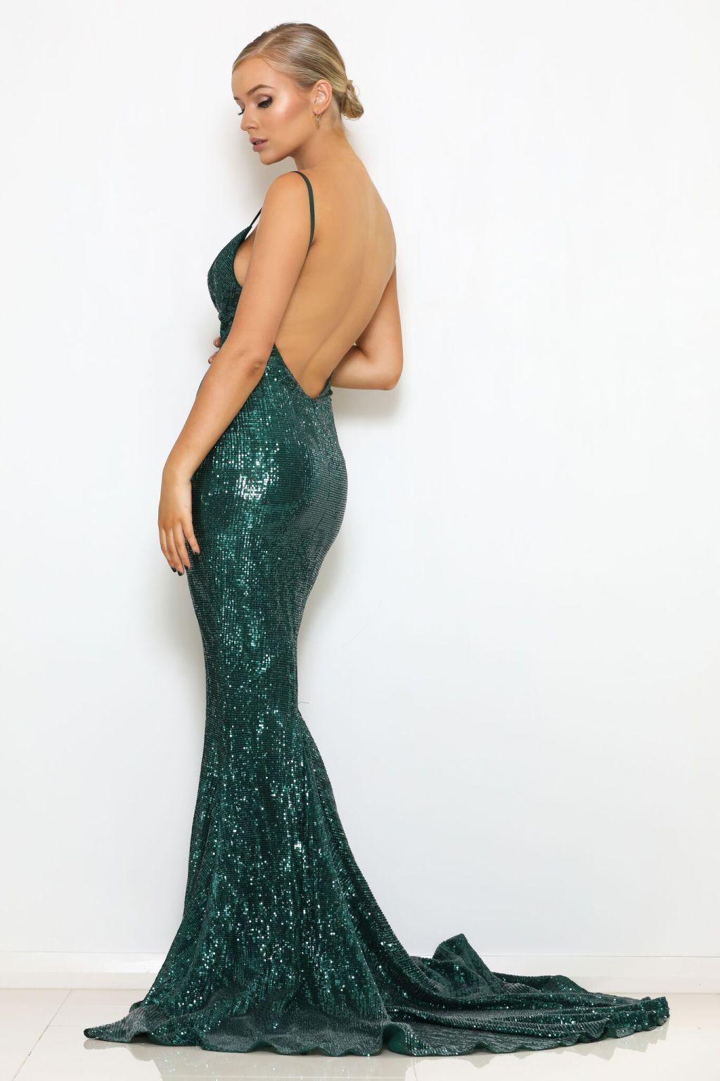 зеленое платье с открытой спиной киев