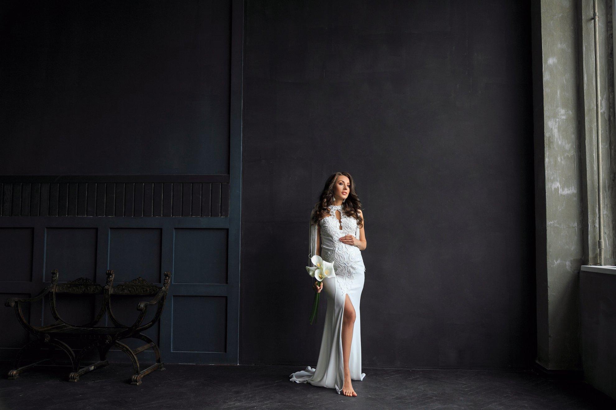 свадебное платье для беременных прокат киев