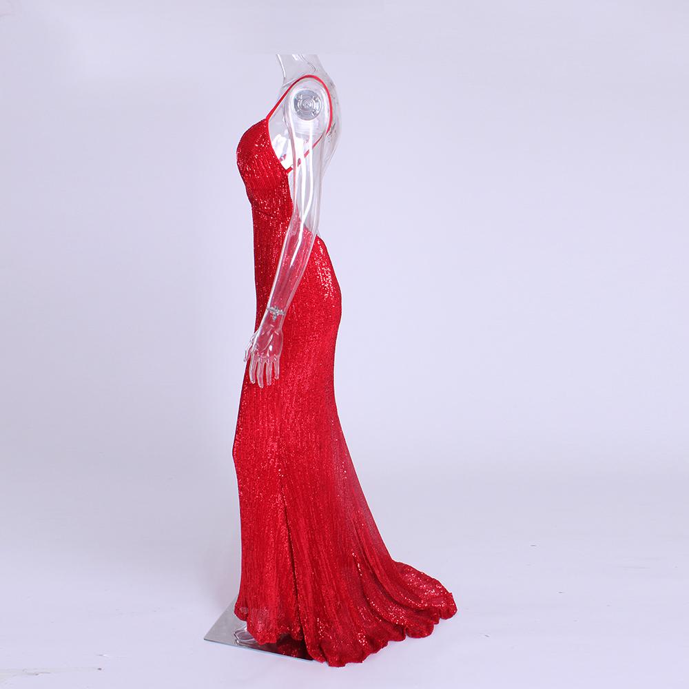 элегантное красное платье в пол киев