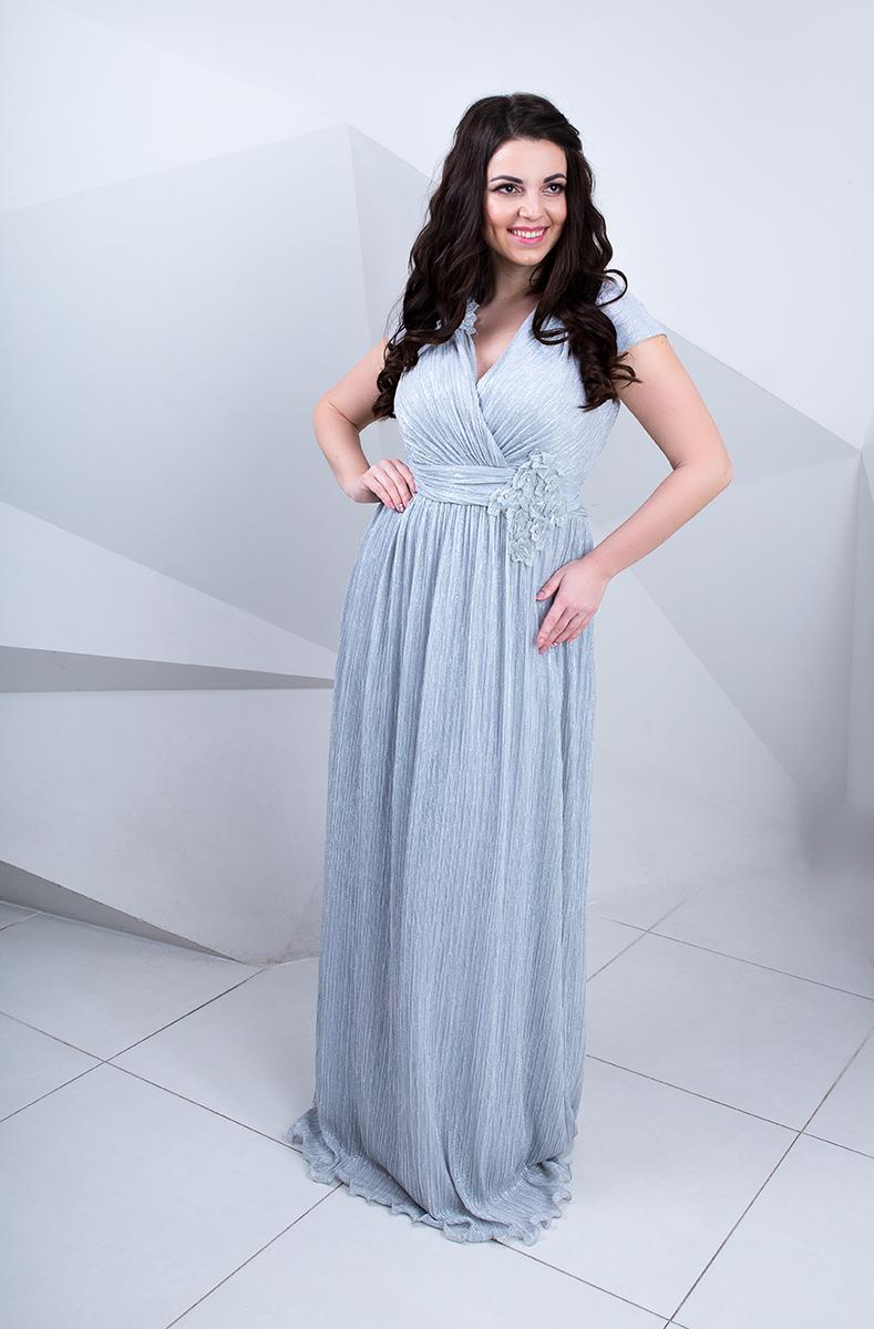 серебрянное платье большого размера прокат купить