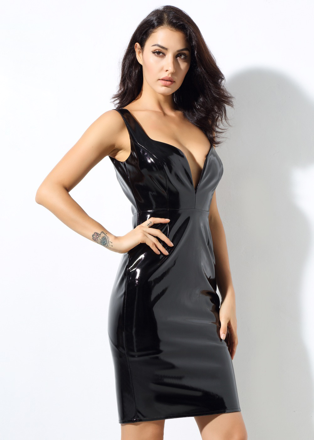 черное латексное платье киев
