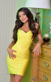 короткое желтое платье киев