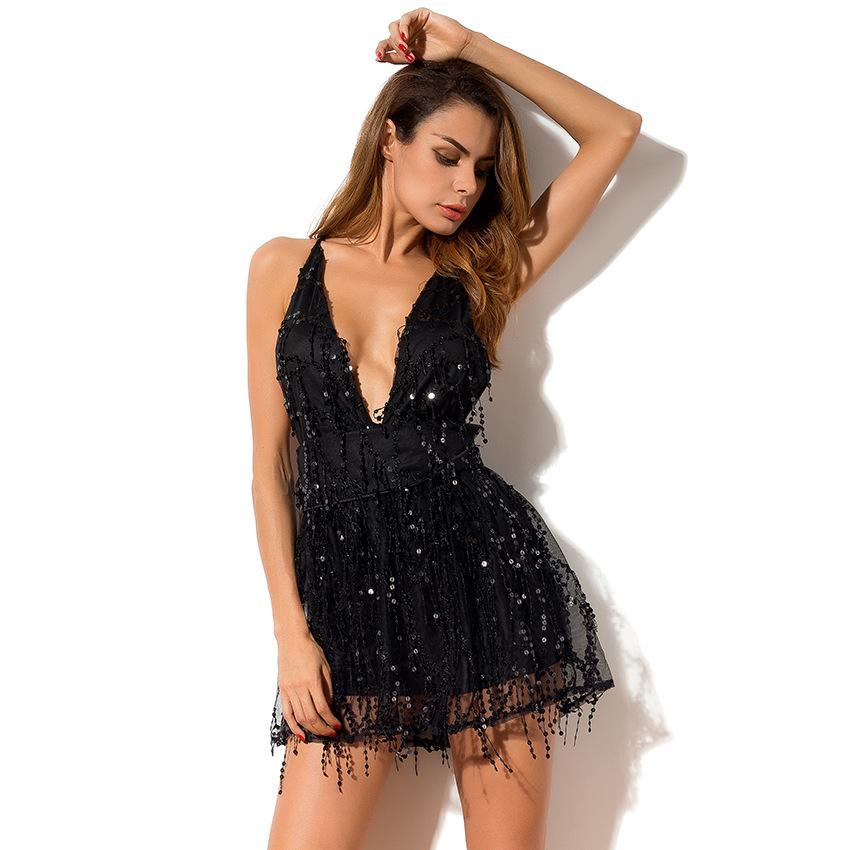 платье комбинезон черное пайеки прокат киев