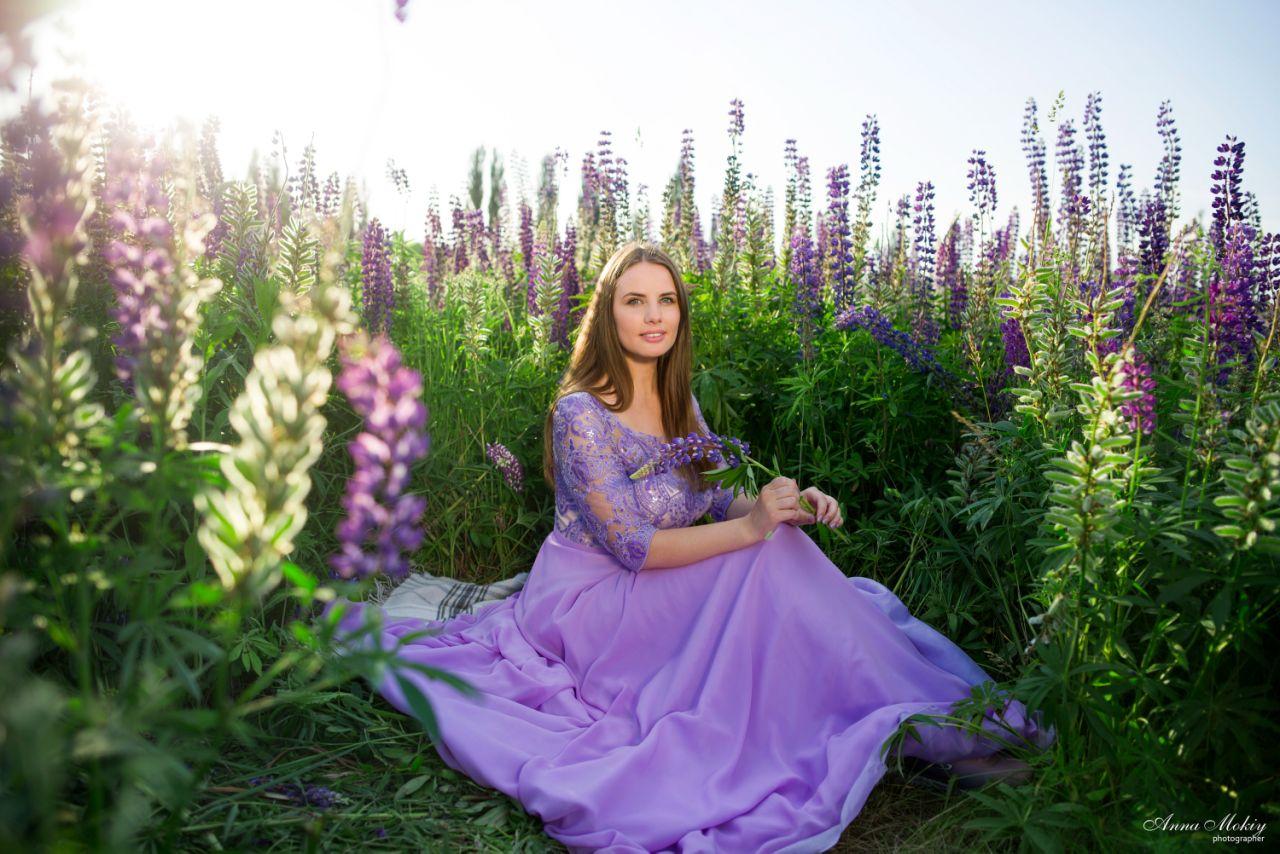 лавандовое платье для фотосессии