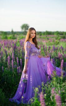 фиолетовое платье для фотосессии