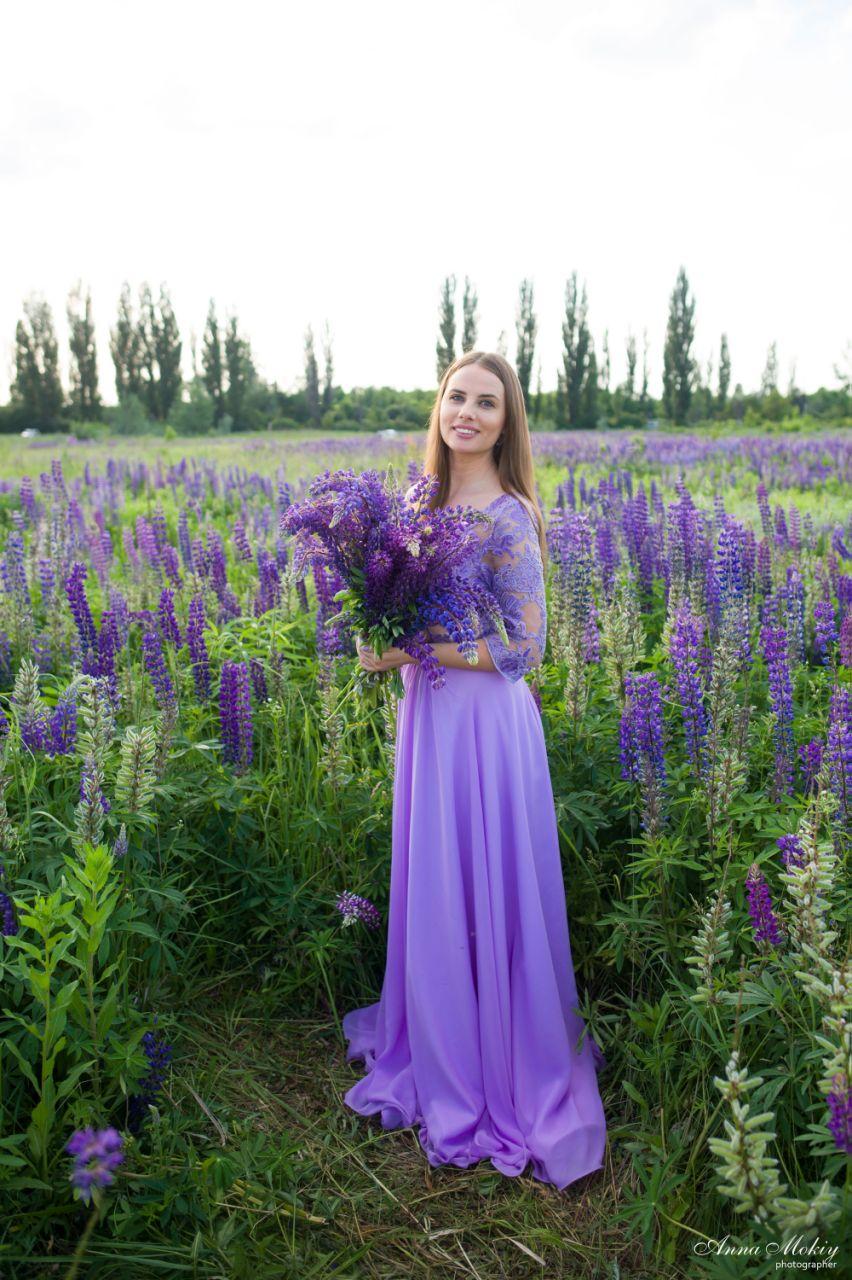 платье для фотосессии в люпинах