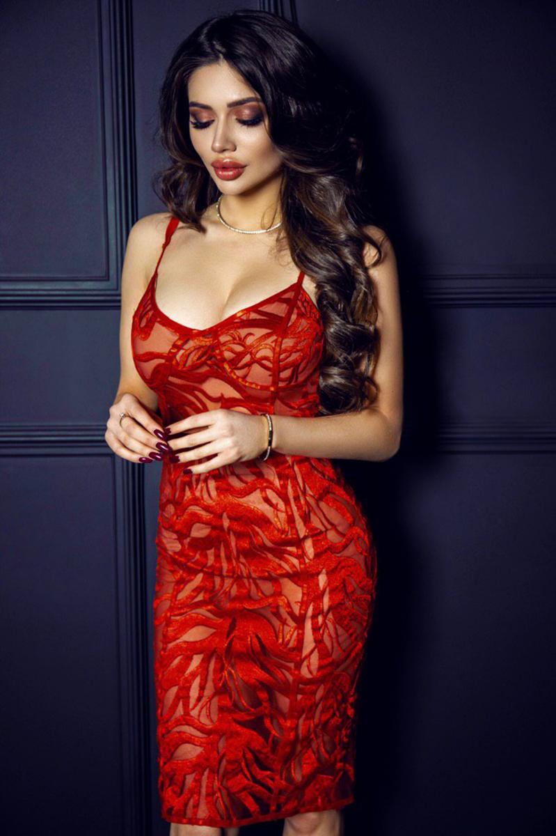 короткое красное платье прокат киев