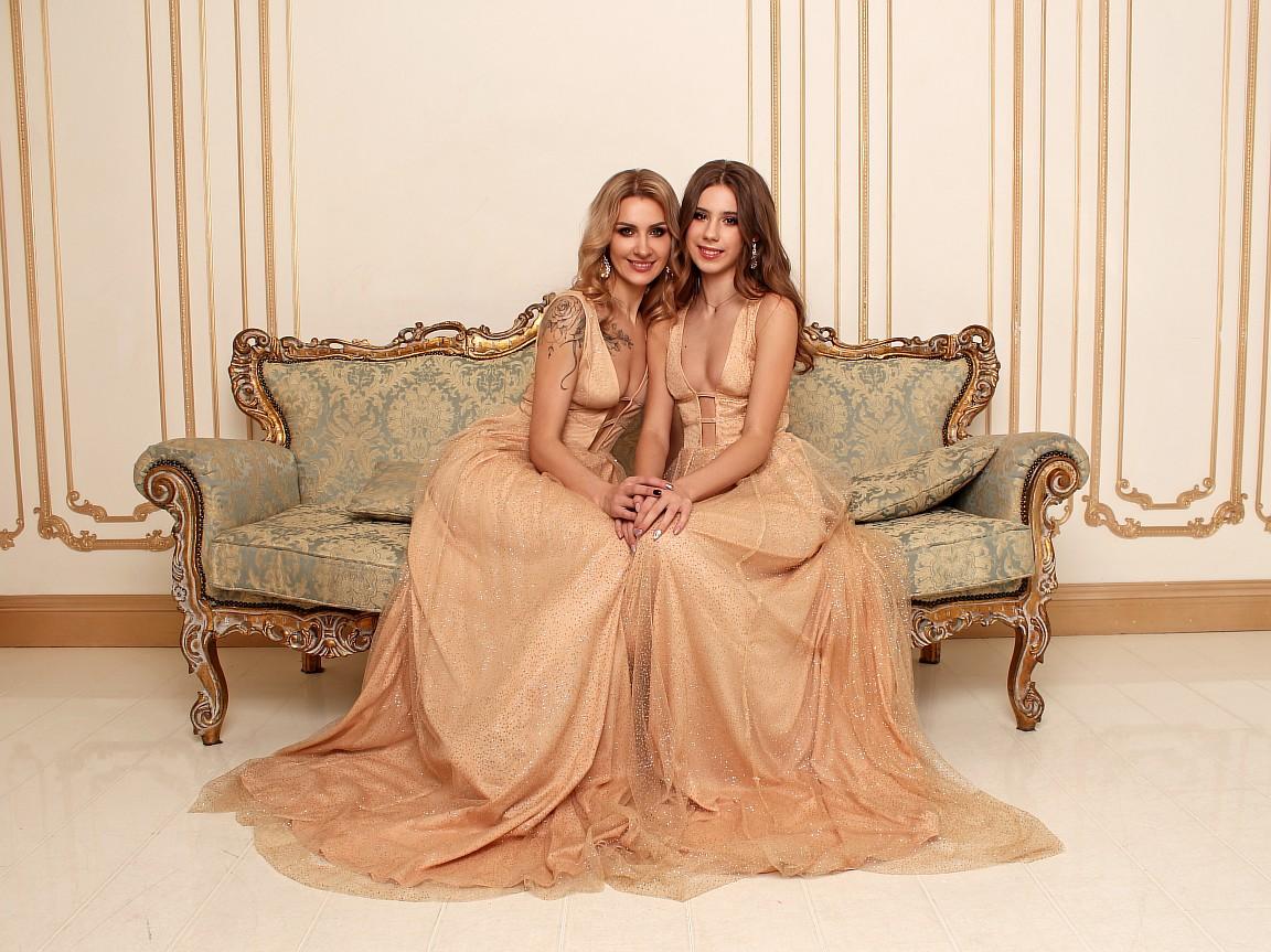 одинаковые золотые платья киев прокат аренда