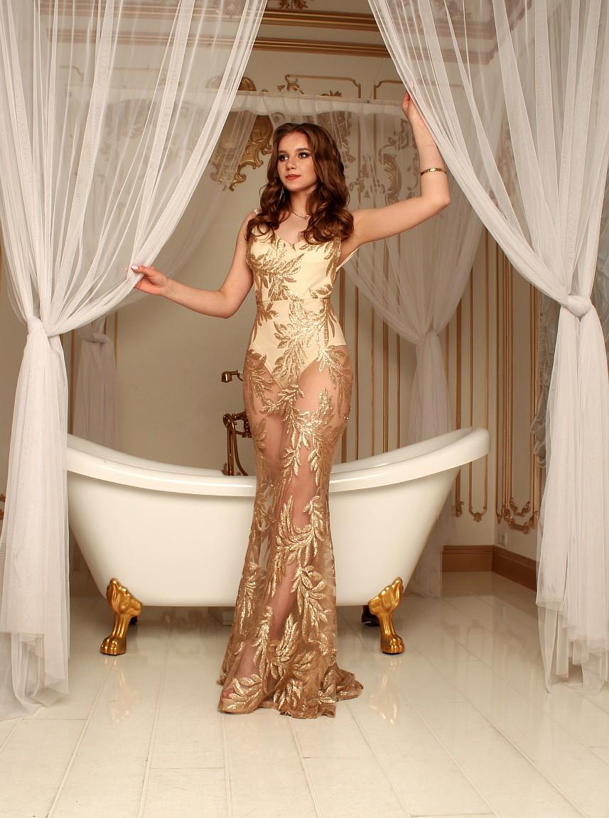 золотое прозрачное платье киев
