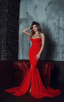 красное платье по фигуре киев