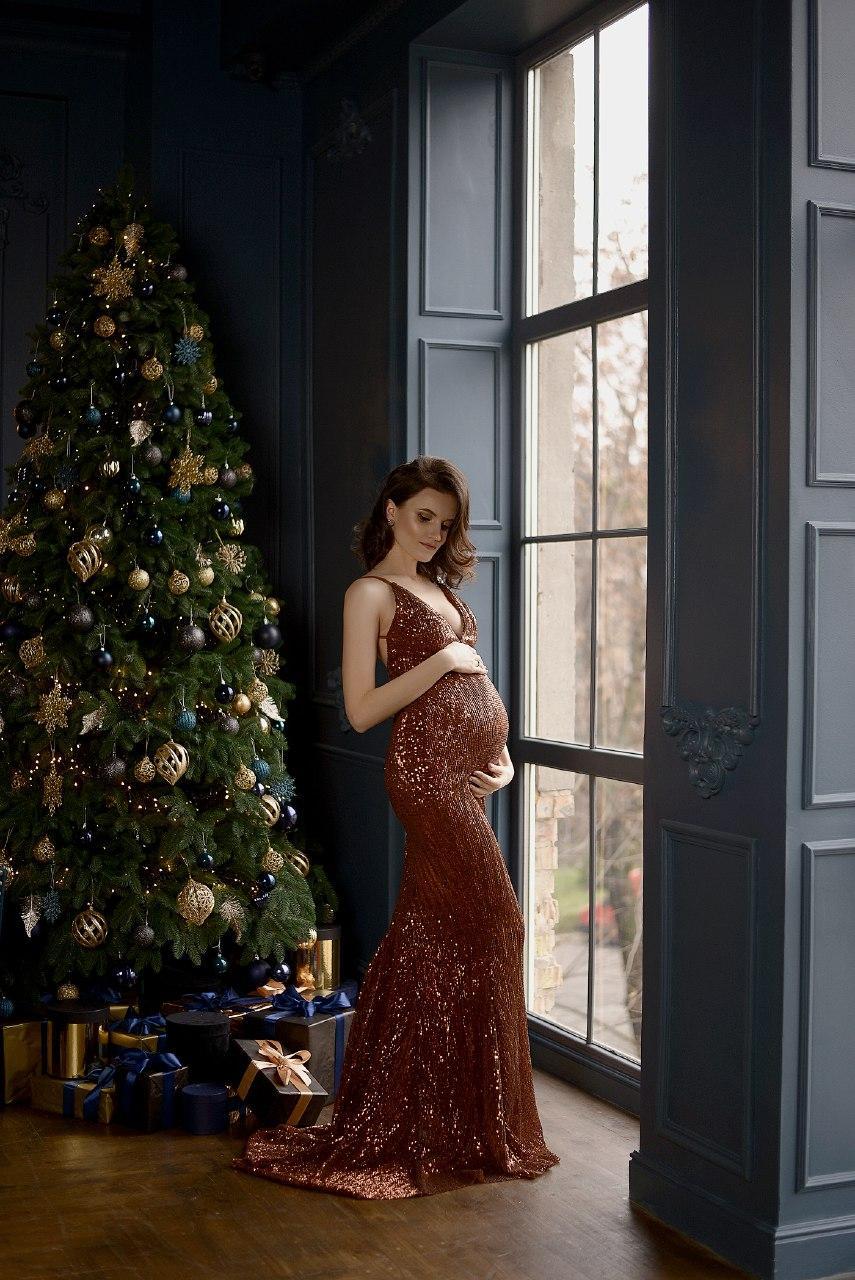 платье для беременных на фотосессию прокат киев