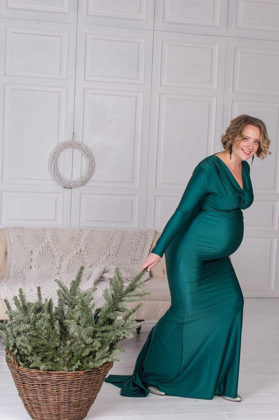 платье с рукавом для беременных на фотосессию пркакт