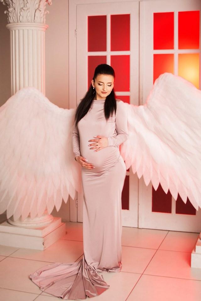нежное платье для беременых прокат киев