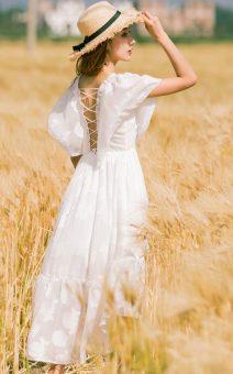 белое платье в стиле бохо прокат киев