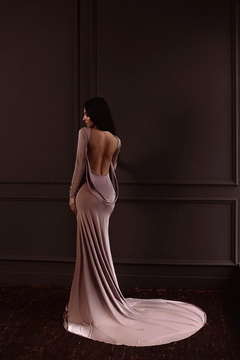 платье с открытой спиной напрокат киев