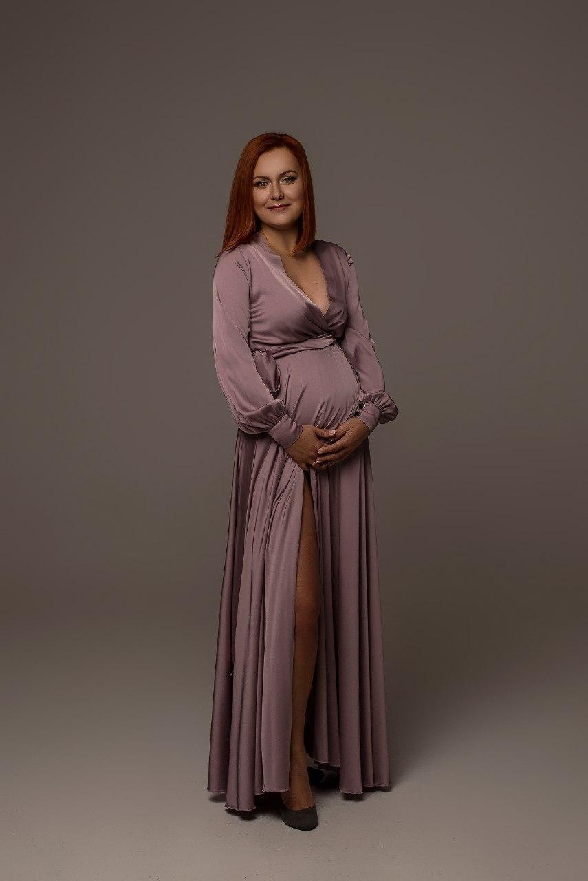 прокат платья с рукавами для беременных на фотосъемку киев