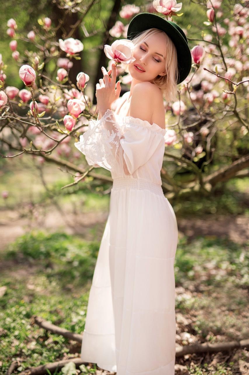 белое платье бохо прокат киев