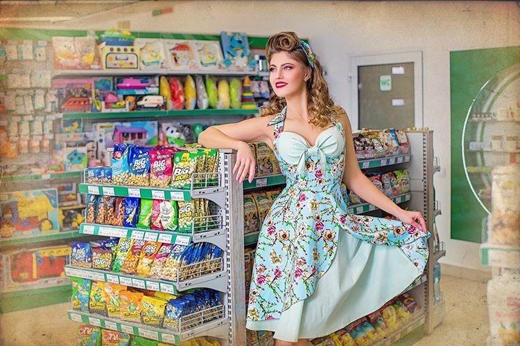 ретро платье 60х годов пин ап