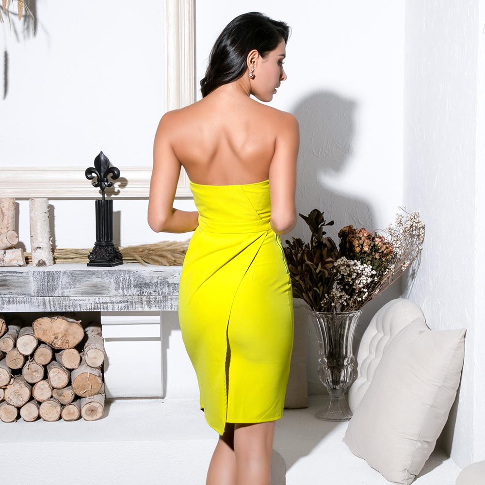 Короткое желтое платье прокат киев