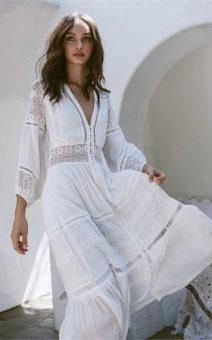 белое платье бохо стиль