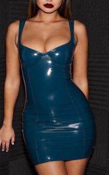 латексное платье напрокат киев